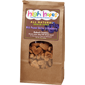 Peanut Butter & Blueberry Dog Treats