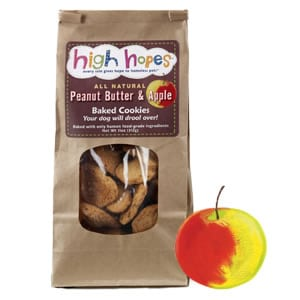 Peanut Butter & Apple Dog Treats