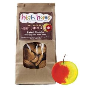 Peanut Butter & Apple Dog Treats